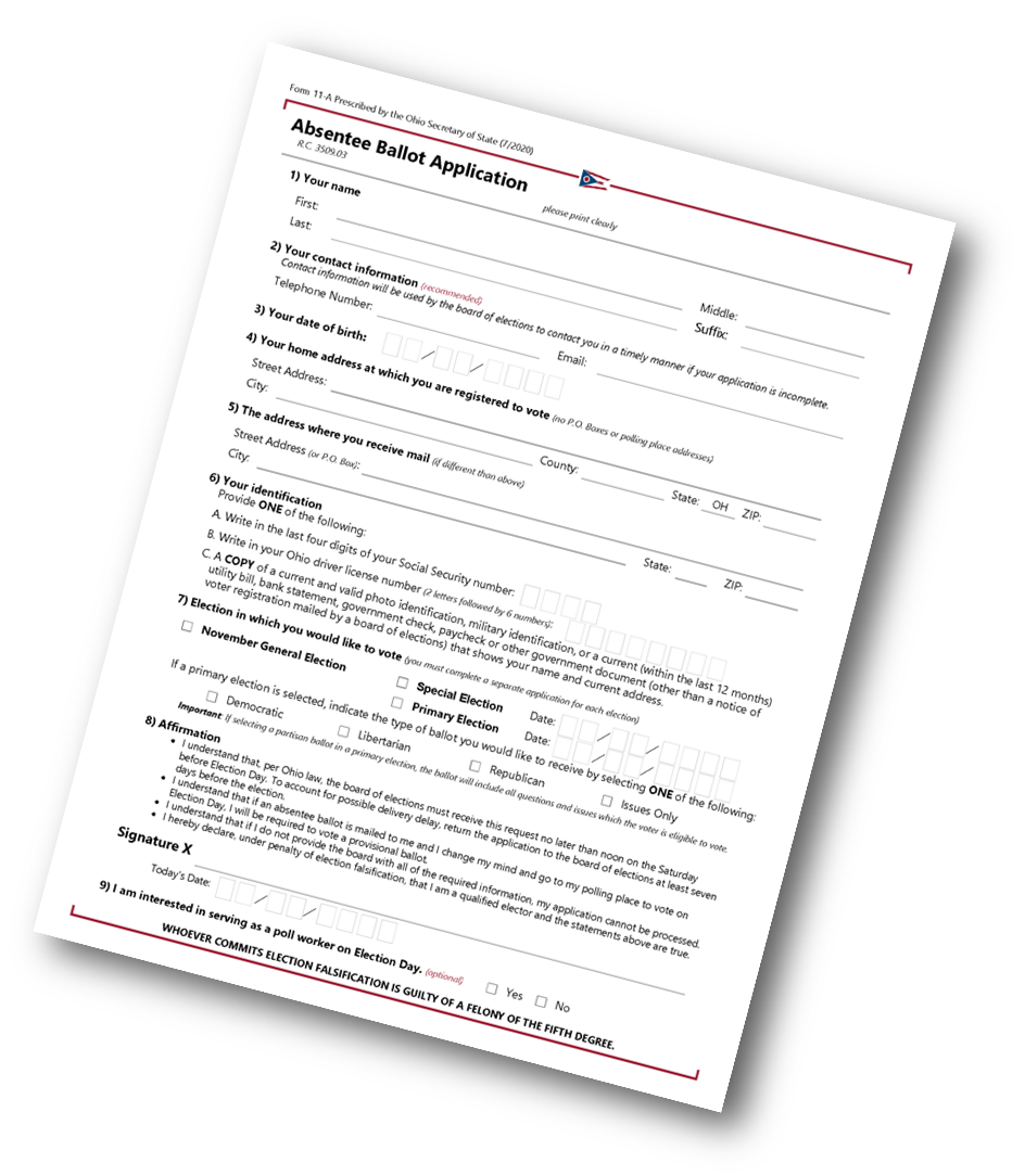 absentee ballott application